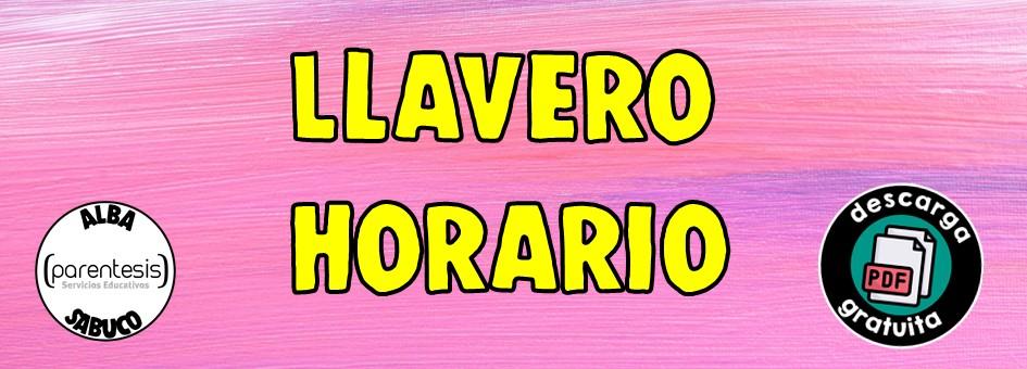 Llavero Horario (el mejor truco docente!)