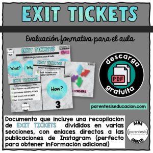 exit tickets parentesis