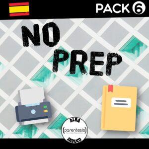 Pack 6 – No Prep – Español